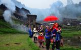 靖州藕团乡塘保苗寨-醉人的苗家传统婚礼 龙本亮 摄